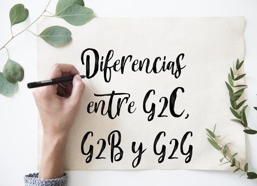 Diferencias entre G2C, G2B y G2G