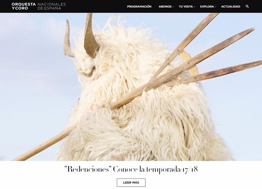 Portada del nou portal web d'OCNE