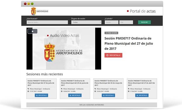 Audio Vídeo Actas Ayuntamiento de Arroyomolinos