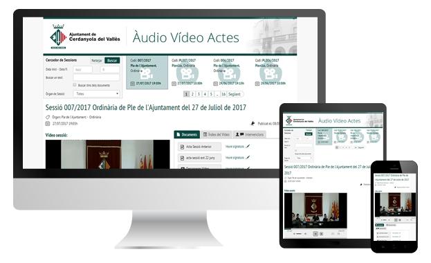 Audiovídeo Actas Ayuntamiento de Cerdanyola del Vallés