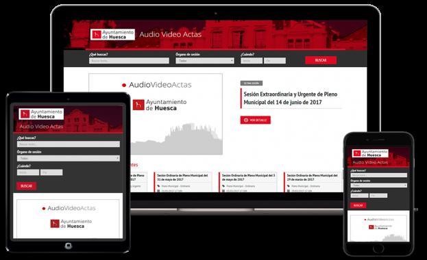 Audiovídeo Actas Ayuntamiento de Huesca Vista Ciudadanía