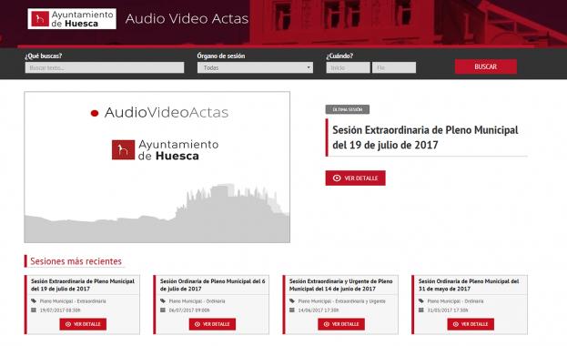 Audiovídeo Actas Ayuntamiento de Huesca Vista Miembros