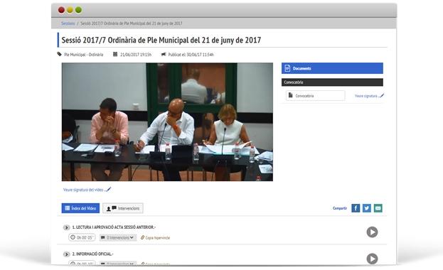 Audiovideo Actas Ayuntamiento de Premià de Mar
