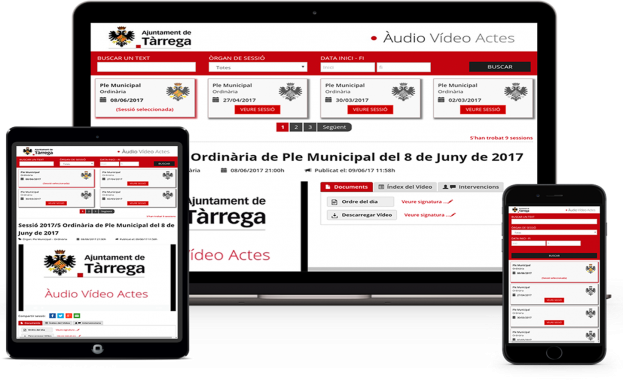 Audio Video Actas Ayuntamiento de Tàrrega Vídeo