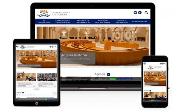 Portal Web Parlamento Rioja