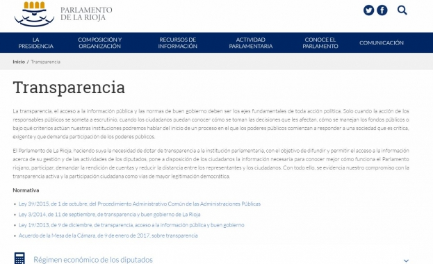 Portal Transparencia Parlamento Rioja