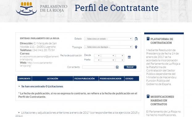 Perfil ContratanteParlamento Rioja